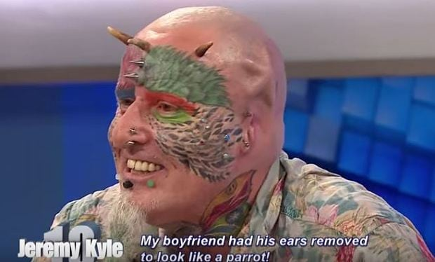 Ted Richards, parrot-obsessed Englishman, 56, has his ears cut off to look like his pets