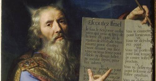 Mes Images: Moise et les tables de la Loi Tableau