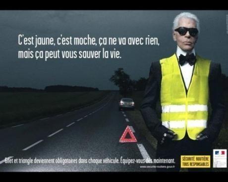 Affiche de la sécurité routière pour l'usage du gilet ...