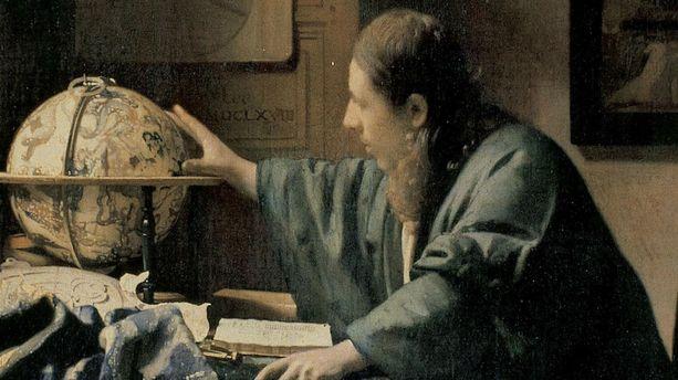 Le peintre Vermeer, le maître de Delft, prend ses ...