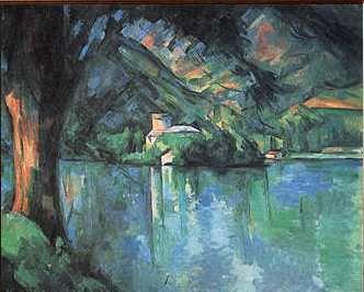 Duingt peint par Cézanne - Chaque homme dans sa nuit