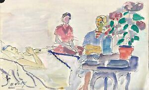 Robert SAVARY - Peinture Originale - Aquarelle - Au chevet ...