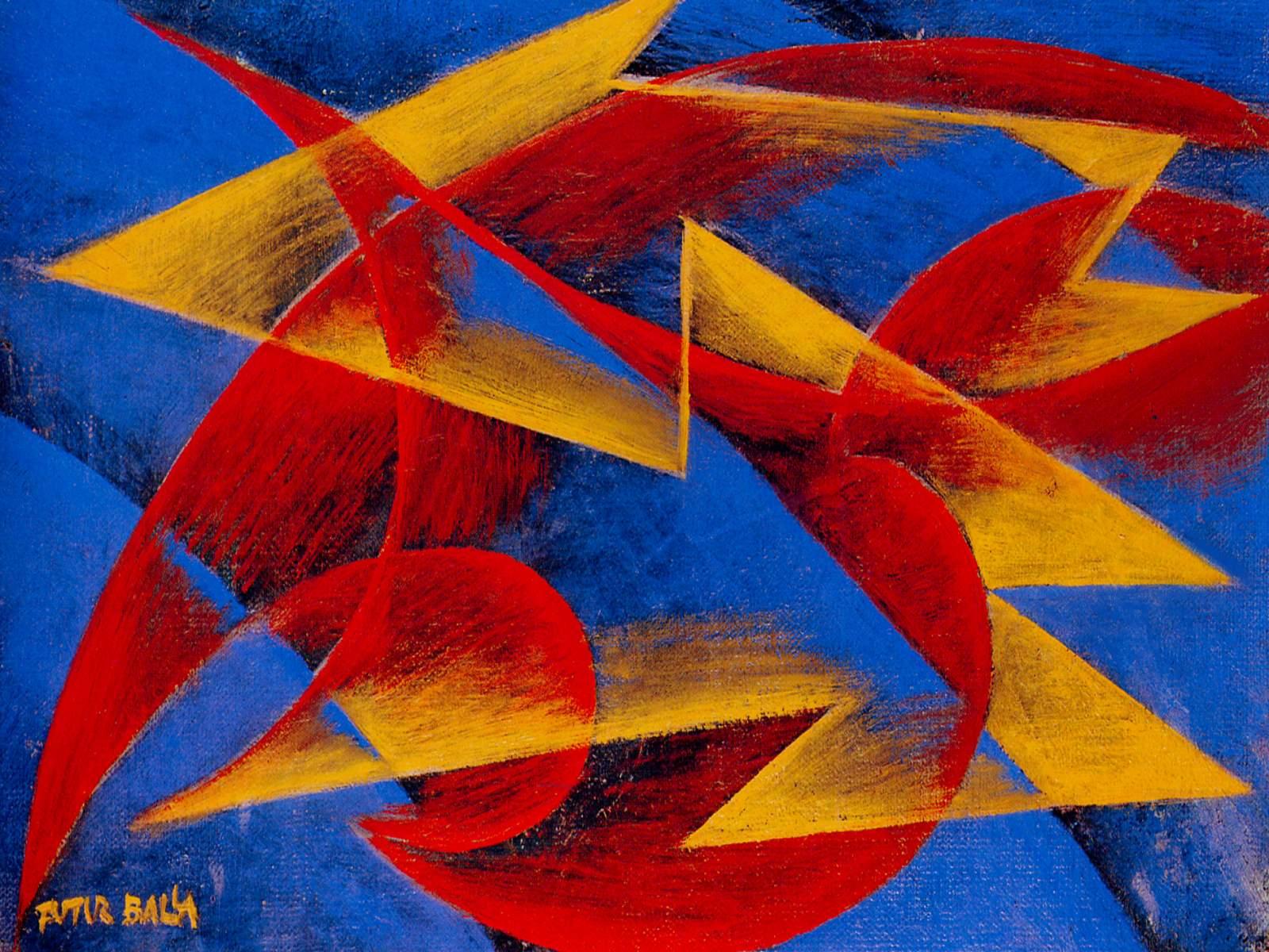 Balla, //Line of Speed//, 1913