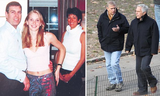Virginia Roberts, Jeffrey Epstein, Prince Andrew, Alan ...