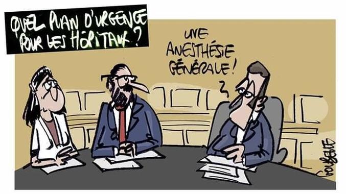Goubelle (2019-11-24) France : Emmanuel Macron , Hôpitaux ...
