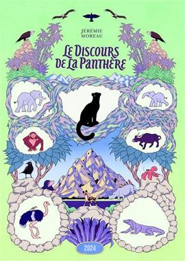 """Couverture de la bande dessinée jeunesse """" Le discours de la panthère """" de Jérémie Moreau"""