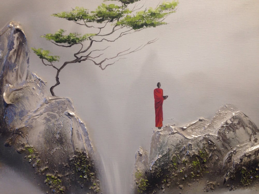 Close up, painting by Martin Beaupre. Zen inspired, large ...