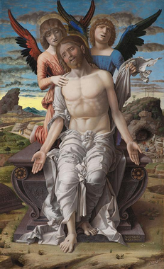 Christ as the Suffering Redeemer Painting by Andrea Mantegna