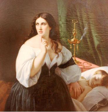 Omer Charlet. Mère au chevet de son enfant mort. Musée de ...