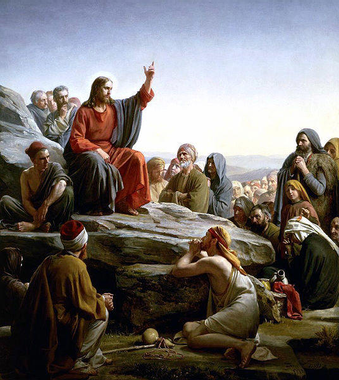 """Jesus gives the Beatitudes"""