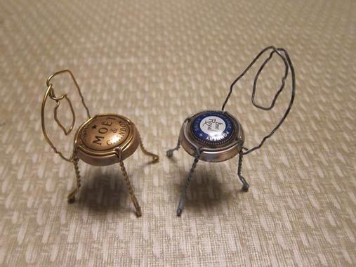 Champagne Cork Wire Cage Chair | Wedding bottles, Wedding ...