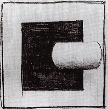 Black square and a white tube-shaped - Kazimir Malevich ...