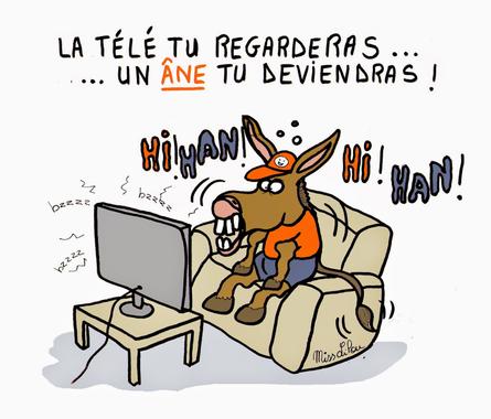 ActuRatons: La télé tu regarderas...un âne tu deviendras