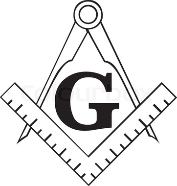 The Masonic Square and Compass symbol, freemason | Stock ...