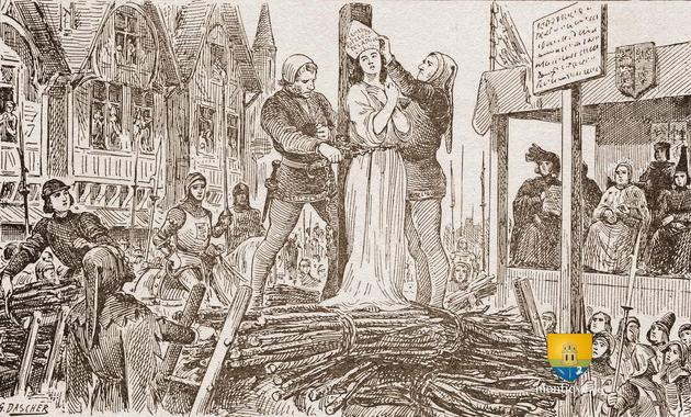 Jeanne d'Arc sur le bûcher à Rouen, 30 mai 1431   Jeanne d ...