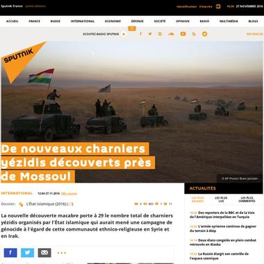 De nouveaux charniers yézidis découverts près de Mossoul ...