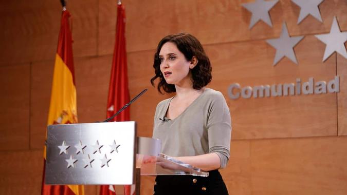 La presidenta Isabel Díaz Ayuso da positivo por coronavirus