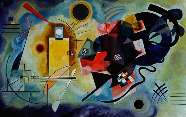"""Kandinsky: """"La rencontre du soleil et de la lune"""" : ce ..."""