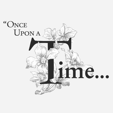 Once upon a Time... Black and White typography of fairy ...