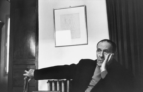 Henri Cartier-Bresson, René Char, 1977. © Henri Cartier ...