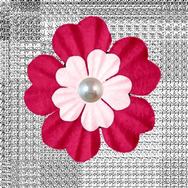 Pink Pearl Flower graphic by Marisa Lerin | Pixel Scrapper ...