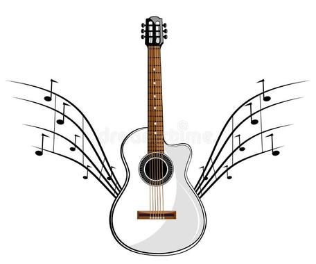 Guitare Classique Blanche Image libre de droits - Image ...