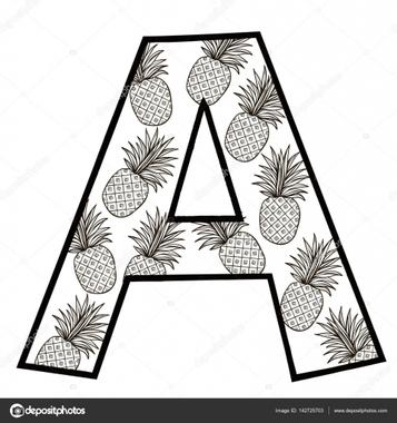 Dessin de la lettre a image vectorielle par Silbervogel ...