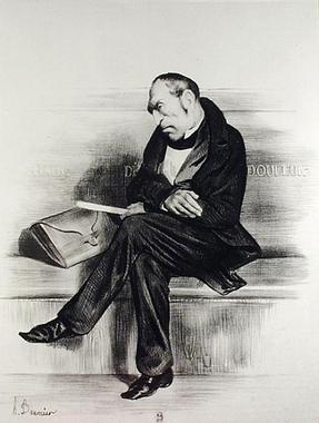 Caricature of Francois Guizot (1787-1874 - Honoré Daumier ...