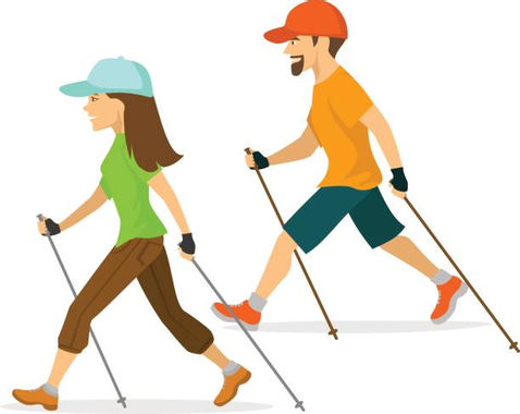 Royalty Free Nordic Walking Pole Clip Art, Vector Images ...