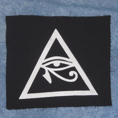 Illuminati Symbol, Eye of Horus in Triangle Patch, Large ...