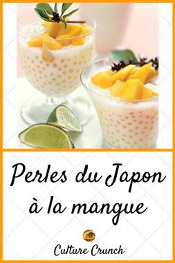 PERLES DU JAPON A LA MANGUE : la recette facile | Recette ...