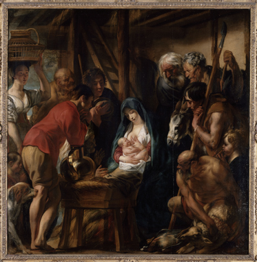 Jacob Jordaens | L'adoration des Bergers | Images d'Art