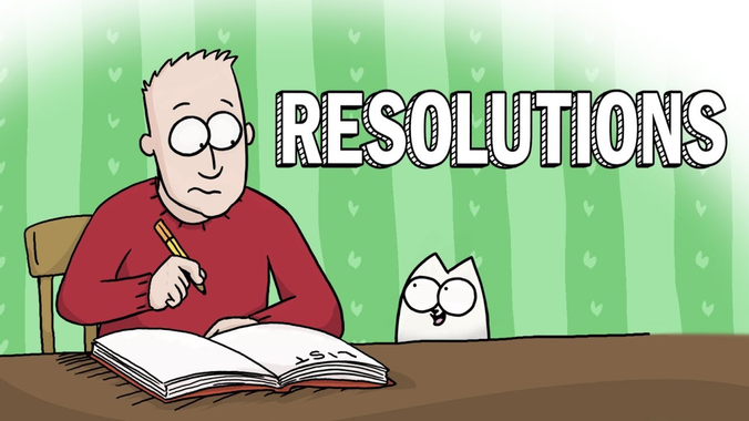 New Year Resolutions - Simon's Cat | GUIDE TO - YouTube