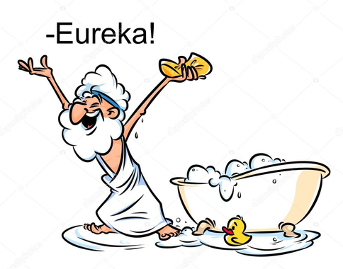 Dibujos animados de baño natación Archimedes Eureka — Foto ...
