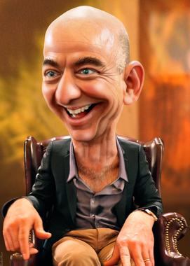 Jeff Bezos - Caricature | Jeffrey Preston Bezos, aka Jeff ...