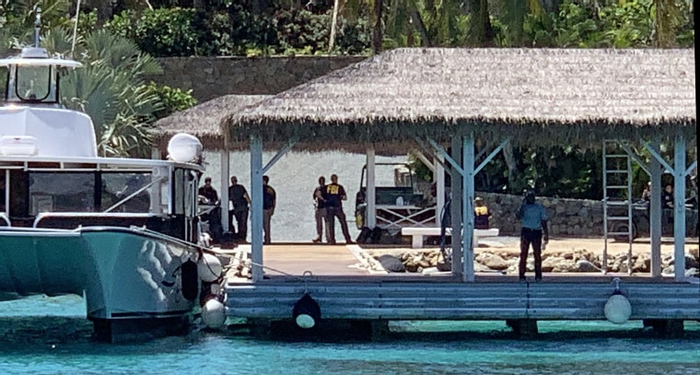 FBI agents swarm Jeffrey Epstein's private Caribbean island